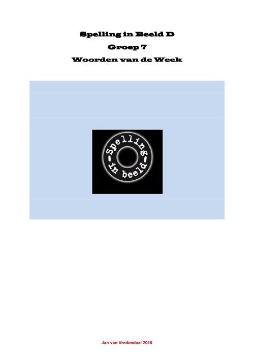Woorden van de Week groep 7