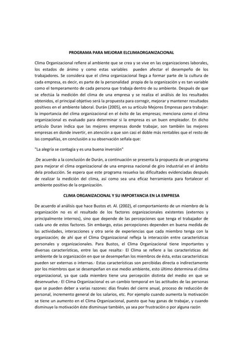 PROGRAMA PARA MEJORAR ELCLIMAORGANIZACIONAL2