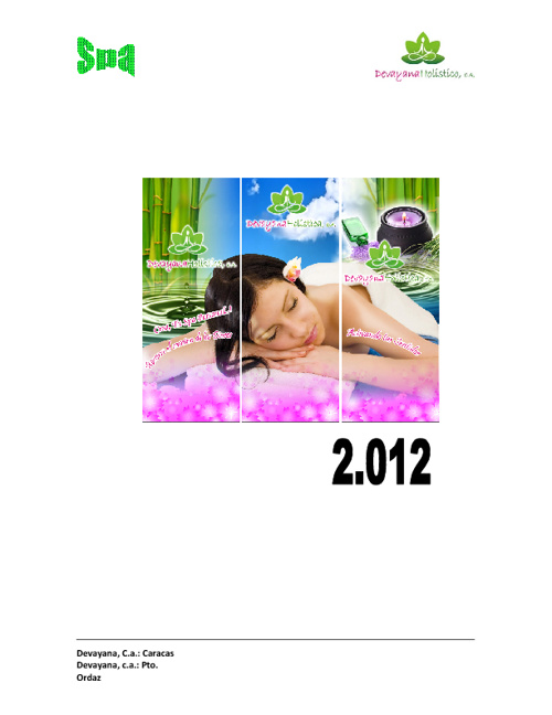 CATALOGO SPA DEVAYANA 2012