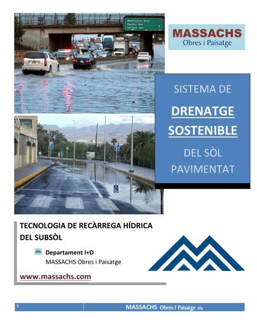 Drenatge sostenible. Sistema de recàrrega hídrica del subsòl