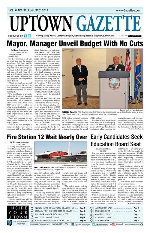 Uptown Gazette  |  August 2, 2013