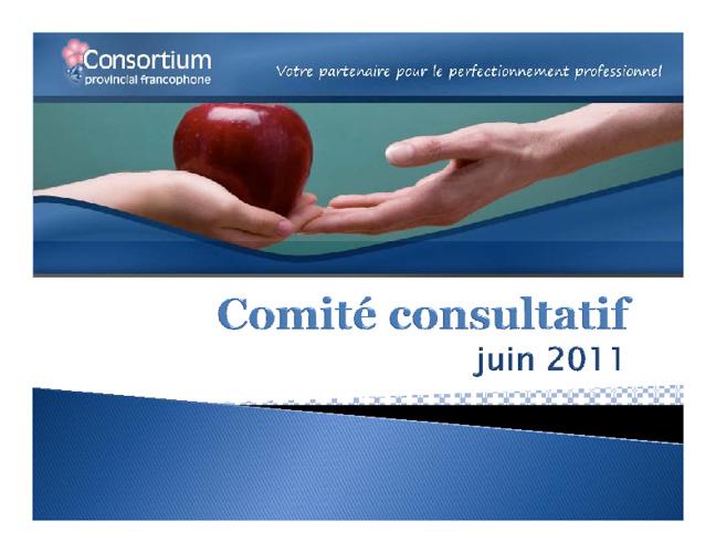 Comité Consultatif juin 2011