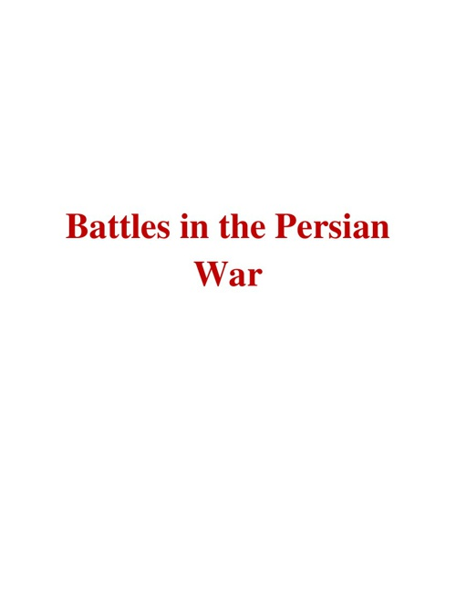 Battles in the Persian War