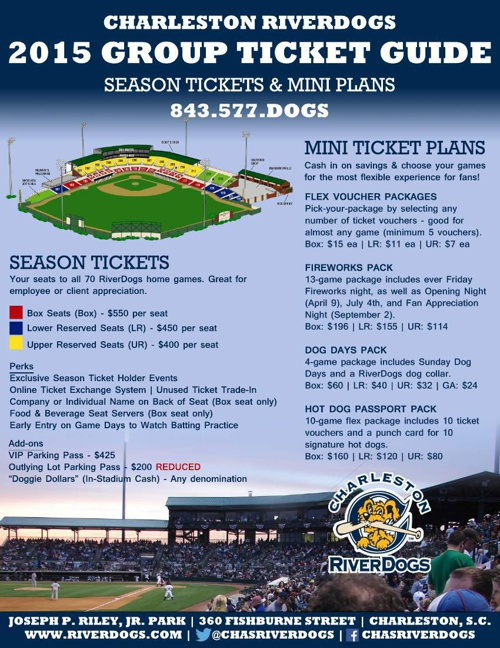 .2105 RiverDogs Tickets Rate Card