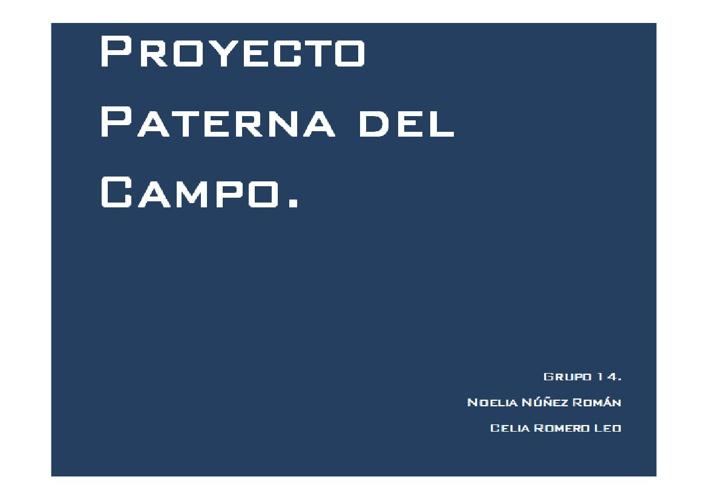 Proyecto Final Grupo 14