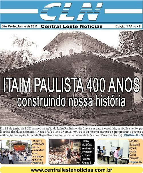 Jornal CENTRAL LESTE NOTICIAS - Edição 001 - Junho/2011