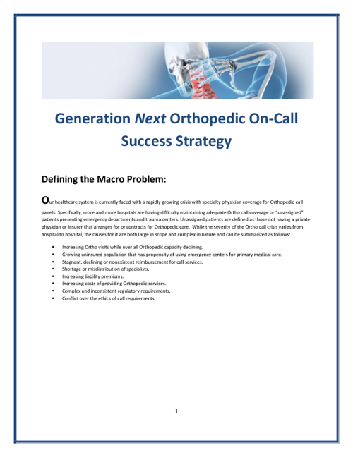 OrthoWorx On-Call Success Strategy