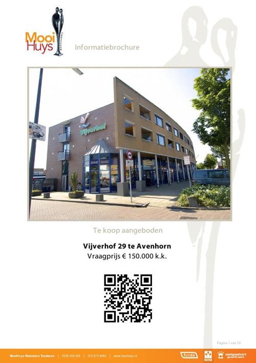 Vijverhof 29 Avenhorn