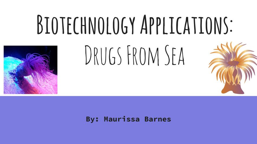 Biotechnology Applications- Drugs From Sea