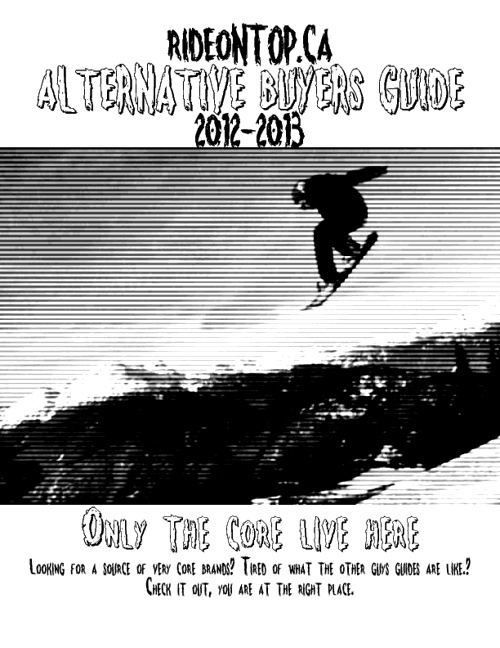 Ride On Top Alternative Buyers Guide 2012-2013