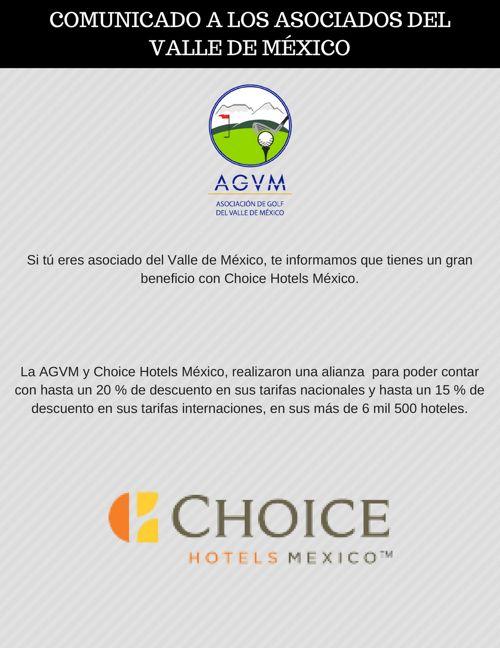 Beneficios de la AGVM, la FMG y Choice Hotels México
