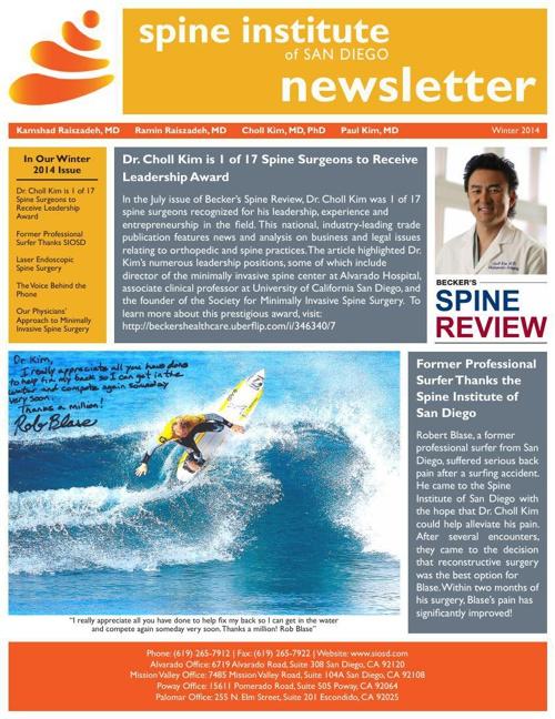 SIOSD Winter 2014 Newsletter