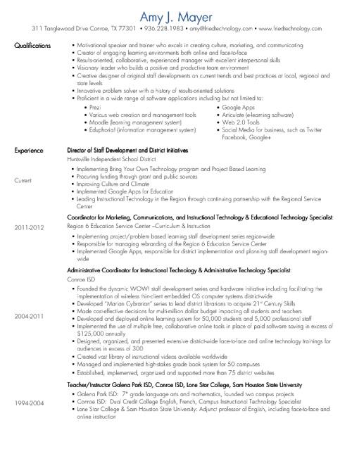 Amy's Resume