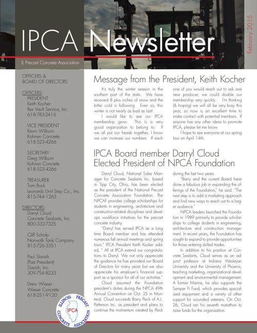 IPCA Newsletter Feb 2015