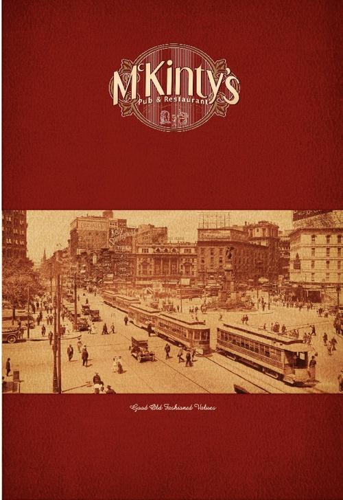 McKinty's menu