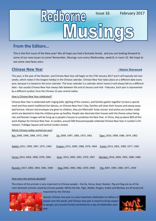Musings Issue 16