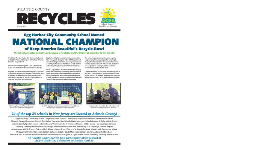 AC Recycles Newsletter - Spring 2016