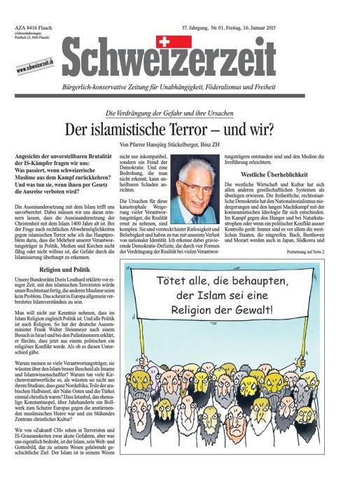 Schweizerzeit Nr. 01 vom 16.01.2015