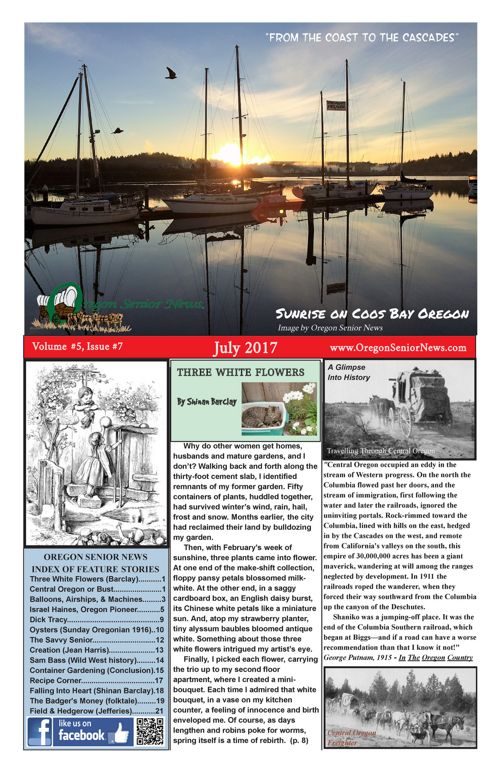 Oregon Senior News July 2017 E-edition