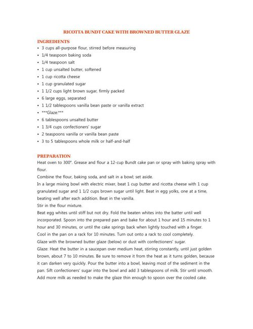 St. Dominic's Recipes