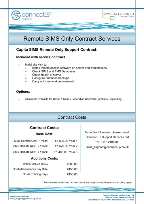 Connect-Up Remote Only Costings - Schools Broadband