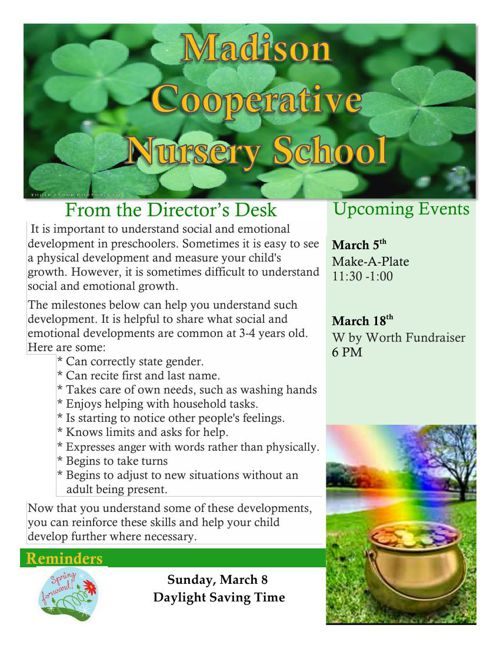 Madison Co-op March Newsletter