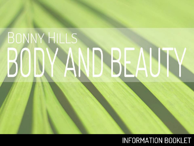 Bonny Hills Body And Beauty Information Booklet