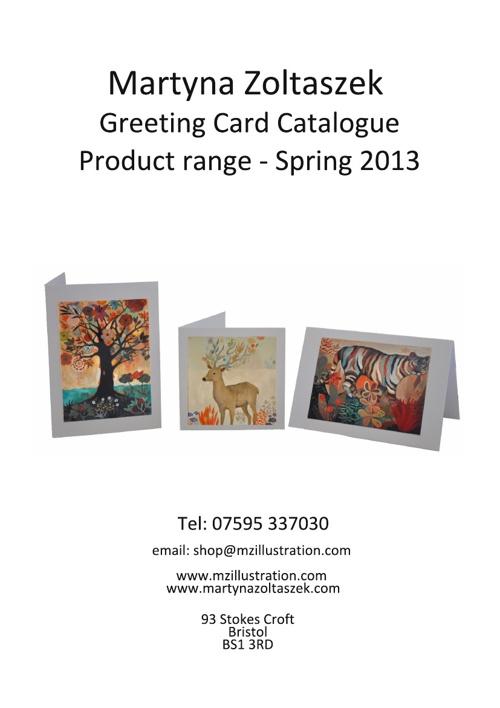 Martyna Zoltaszek Card Catalogue - Spring 2013