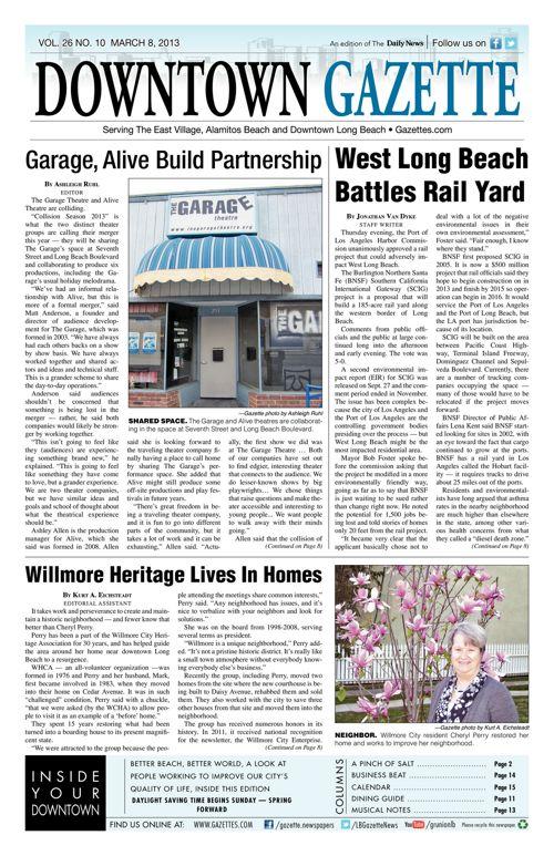 Downtown Gazette     March 8, 2013