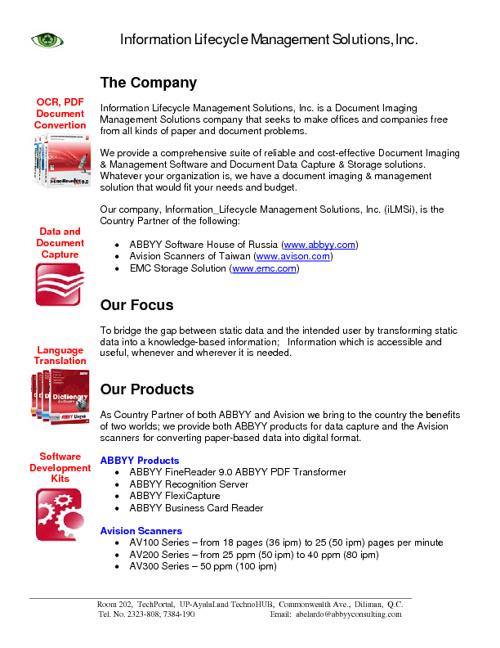 iLMSi Company Profile