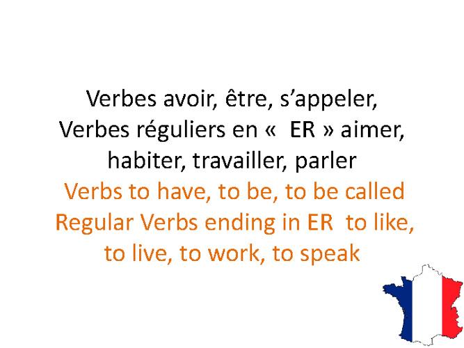 Mes premiers Verbes