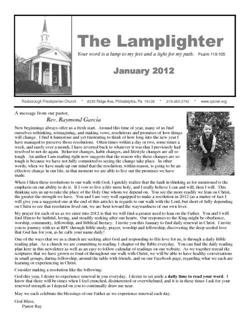 Lamplighter January 2012
