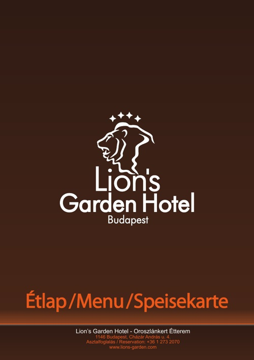 Lion's menu new