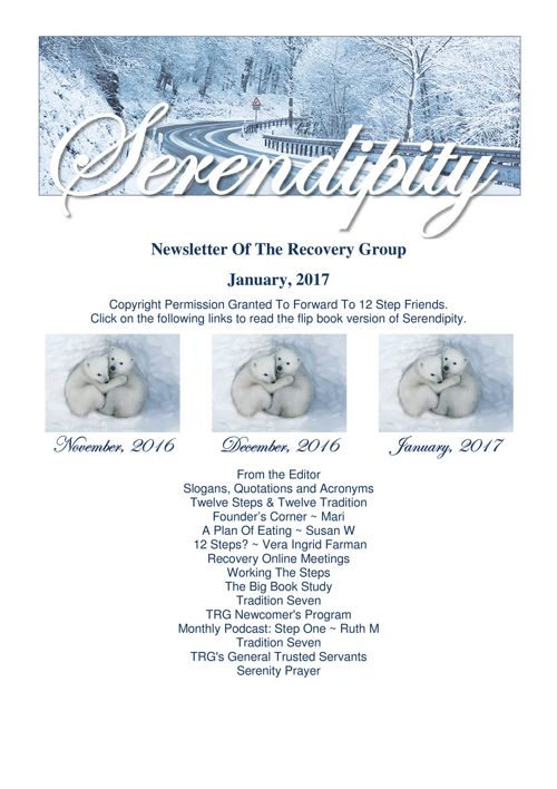 01  Serendipity  ~ January 2017