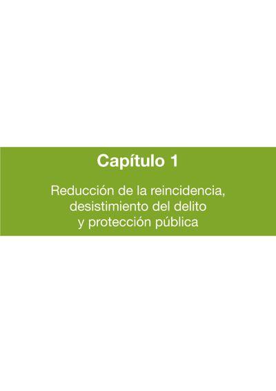 Cap. 1: Reducción de la reincidencia, desistimiento del delito y