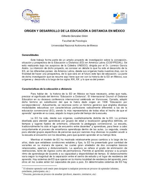 Historia de la educación en línea en México