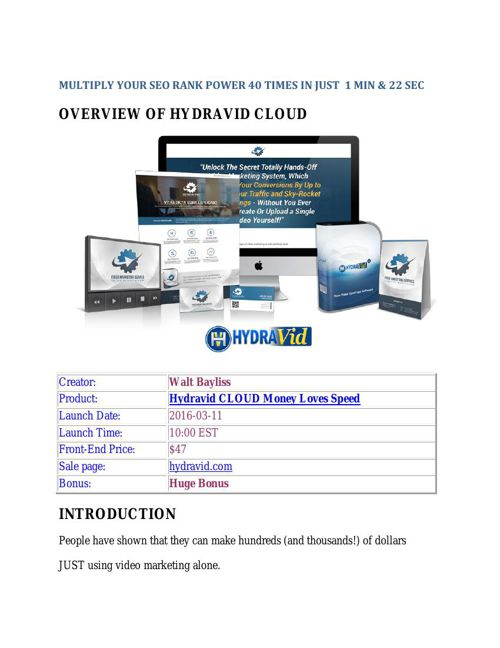 Hydravid Cloud Review - Best Video Marketing Software