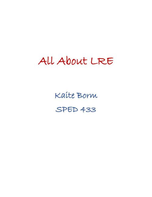 All About LRE