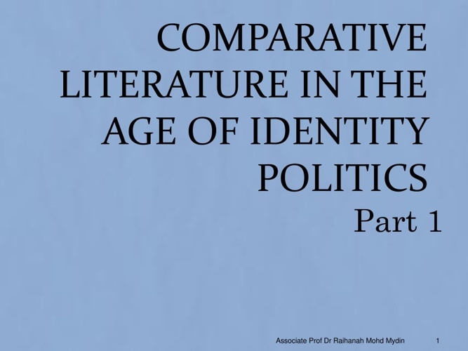 CL and Identity Politics