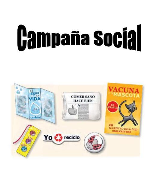Qué es una campaña social