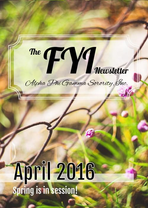 The F.Y.I. Newsletter - April 2016