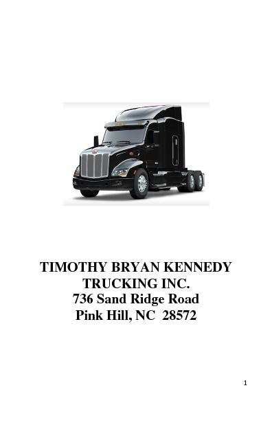 Timothy Bryan Kennedy Trucking, INc