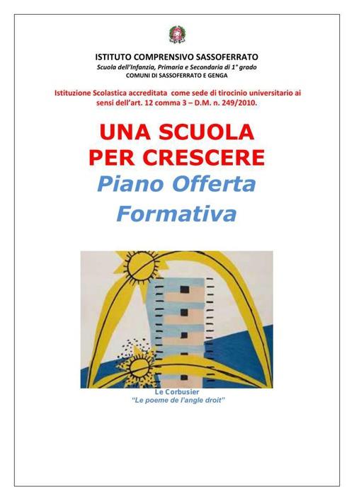POF 2014-15 Istituto Comprensivo di Sassoferrato e Genga