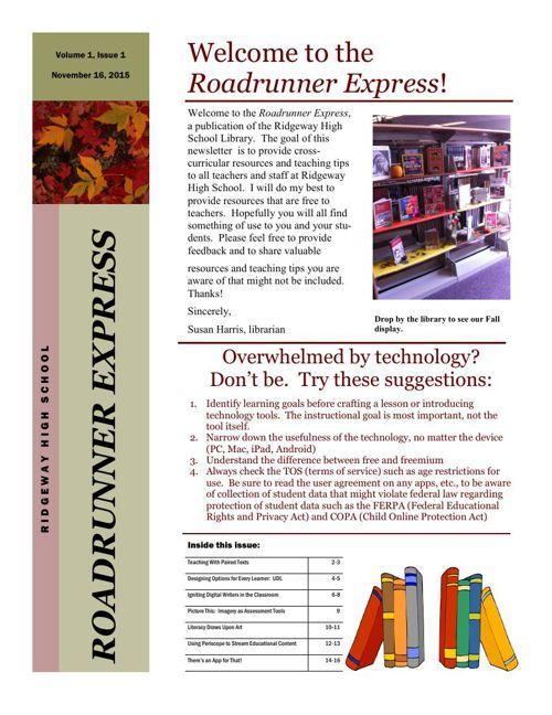 Roadrunner Express Newsletter
