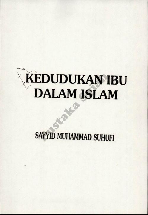 Kedudukan Ibu Dalam Islam reduce