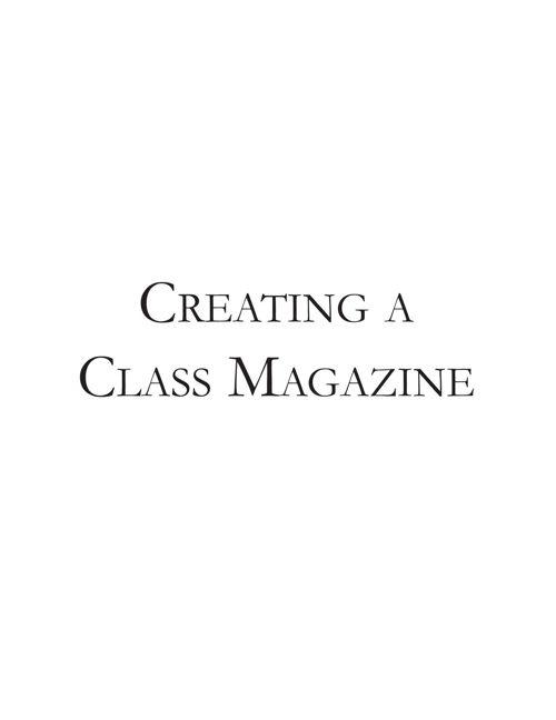 Creating a Class Magazine