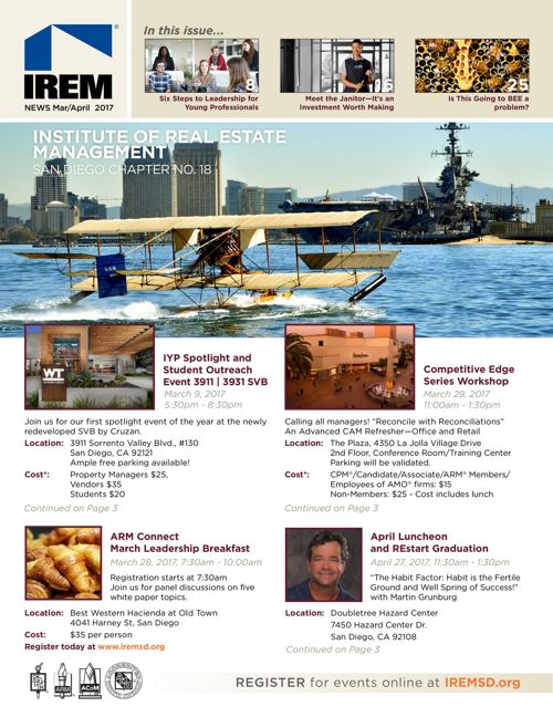 IREMSD Mar/Apr 2017 Newsletter