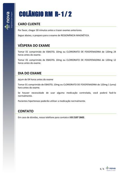 08 PREPARO COLÂNGIO RM- RISCO 1 E 2