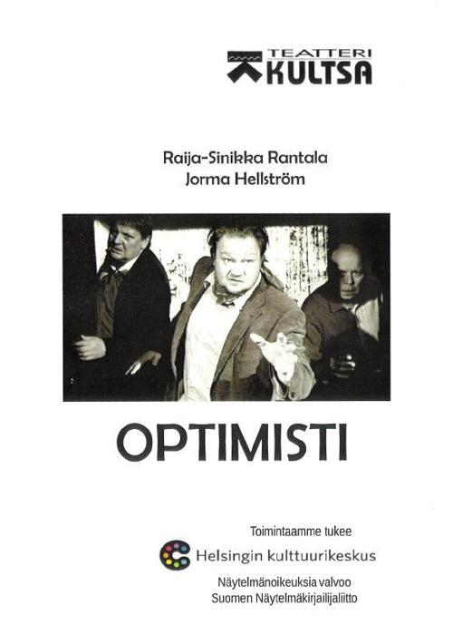 Optimisti - näytelmän käsiohjelma Teatteri Kultsa