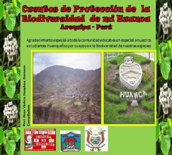Cuentos de proteccion de la biodiversidad de mi Huanca, Arequipa